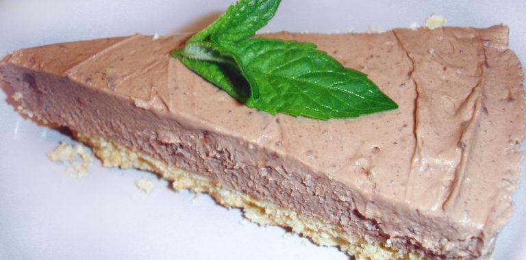Шоколадный чизкейк-мороженое без выпечки
