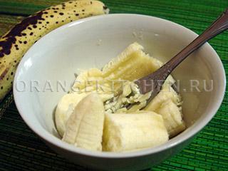 Постный пирог с малиной и бананом - рецепт пошаговый с фото