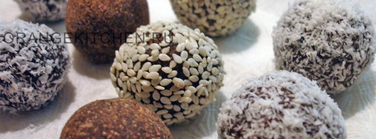 Финиковые конфеты без сахара с семечками