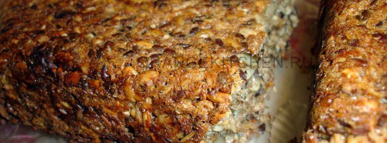 Домашний цельнозерновой хлеб без муки, без сахара, без дрожжей