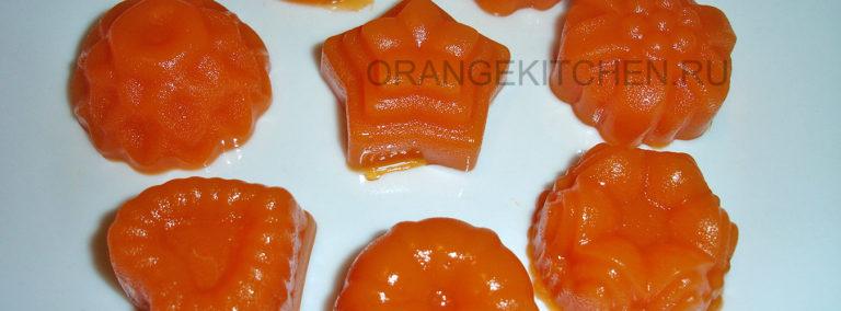 Морковное желе на агар-агаре с апельсиновым соком