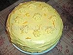вегетарианский оранжевый торт