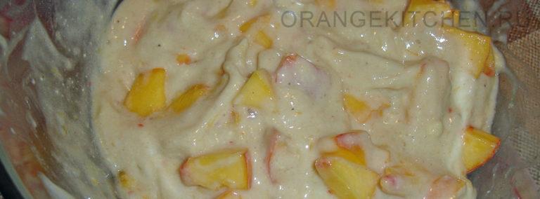 Веганское мороженое из бананов и персиков